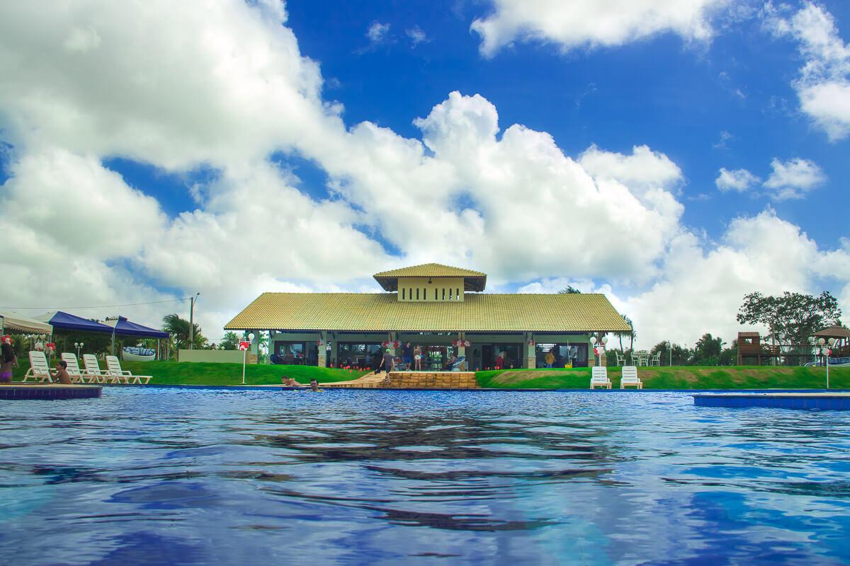 vista da piscina do Terras Belas
